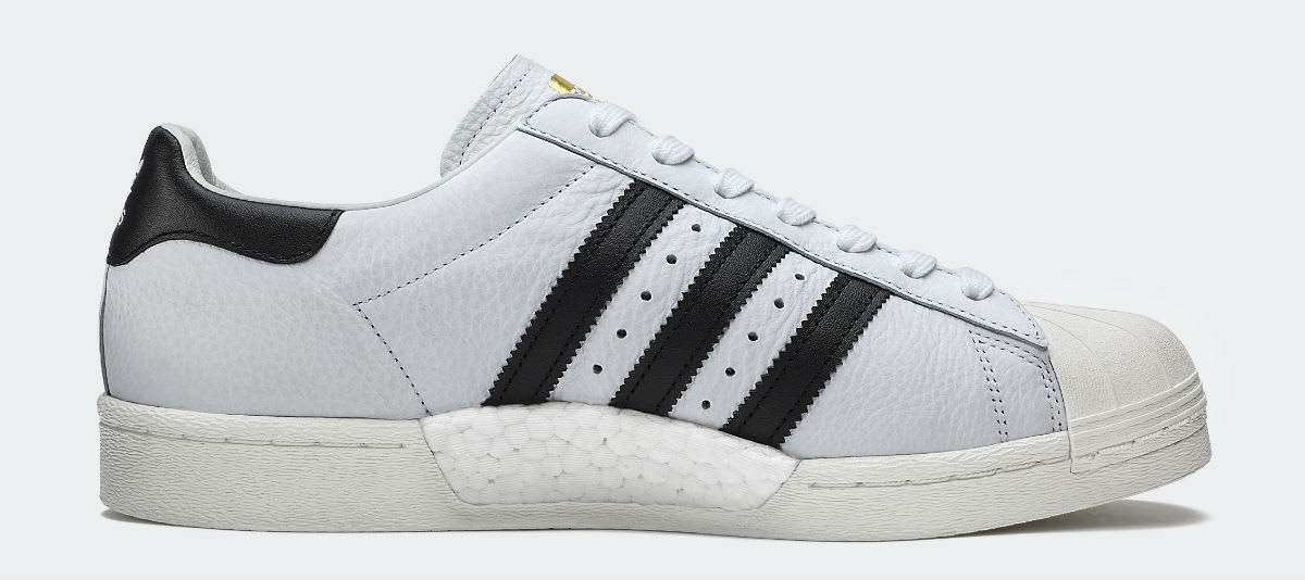 Adidas Superstar Boost White Black Release Date Medial BB0188