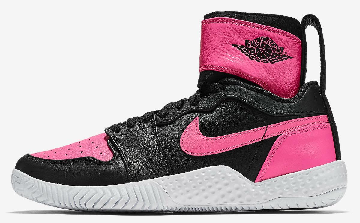 Serena Williams NikeCourt Flare AJ1 Pink Release Date Profile 878458-006