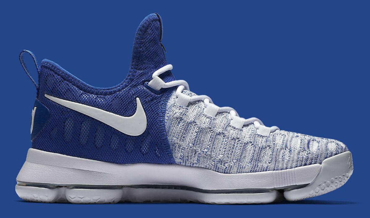 09c05ddec26e Nike KD 9 Home II White Blue Release Date 843392-411