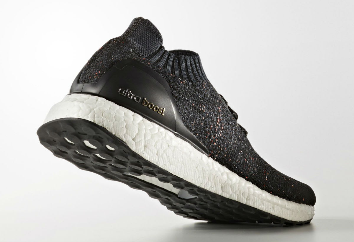 Adidas Ultra Boost Uncaged Black Multicolor Speckle Release Date Lateral BA9796