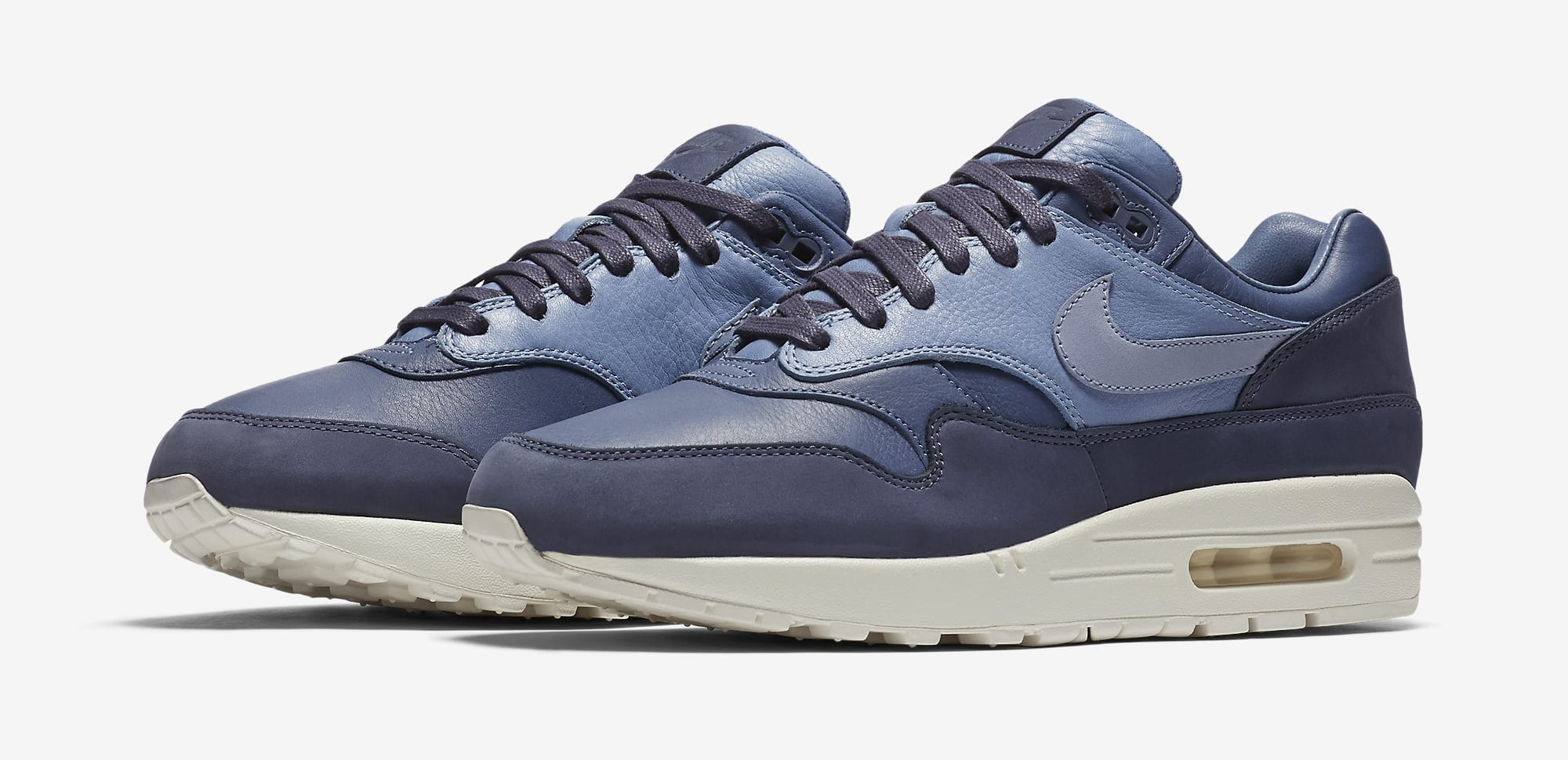 Nike Air Max 1 Pinnacle Leather Ocean Fog Blue Sail 859554-400