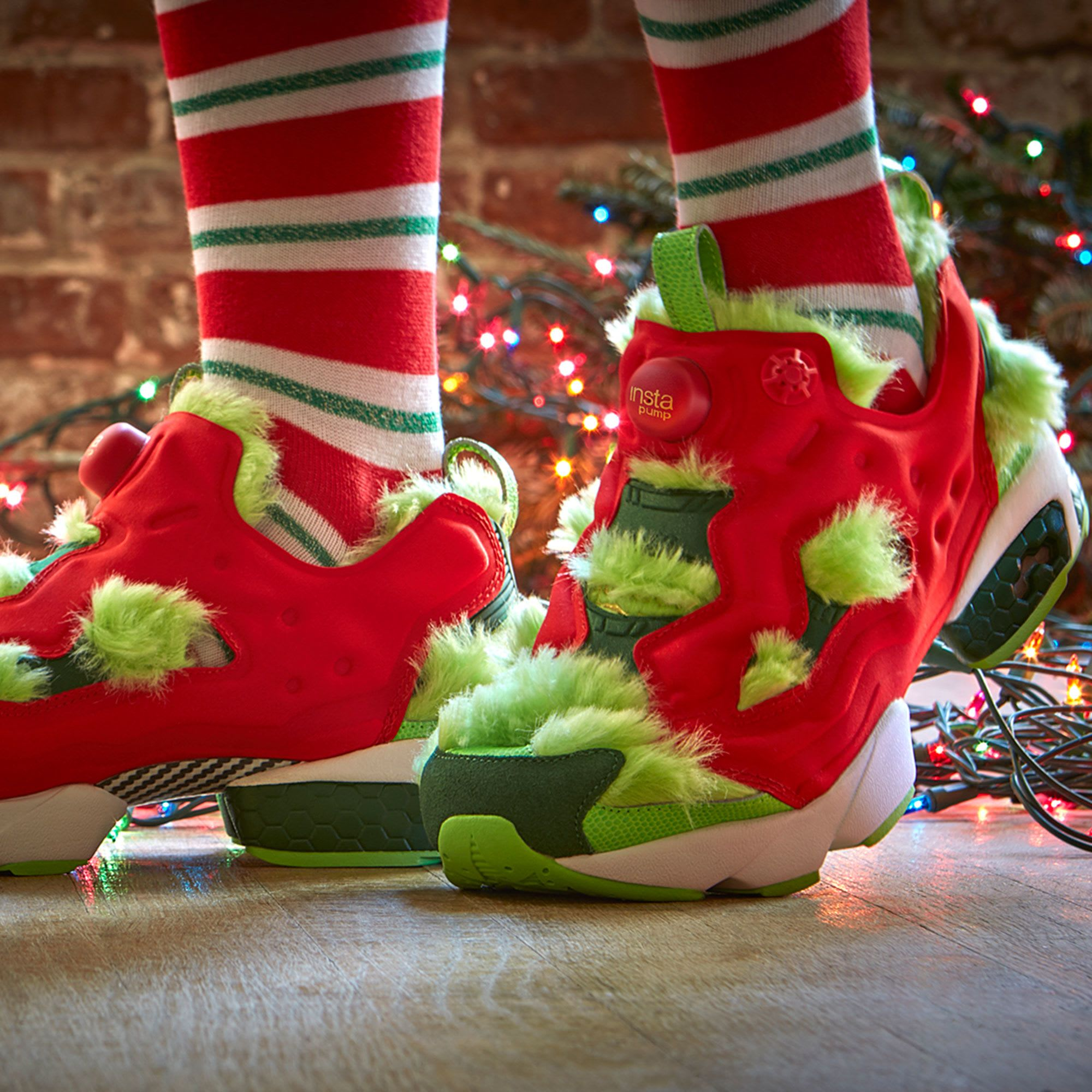 Reebok Instapump Fury Cv Quot Grinch Quot On Feet Sole Collector
