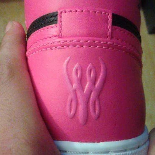 Serena Williams Air Jordan 1 Pink Release Date Heel