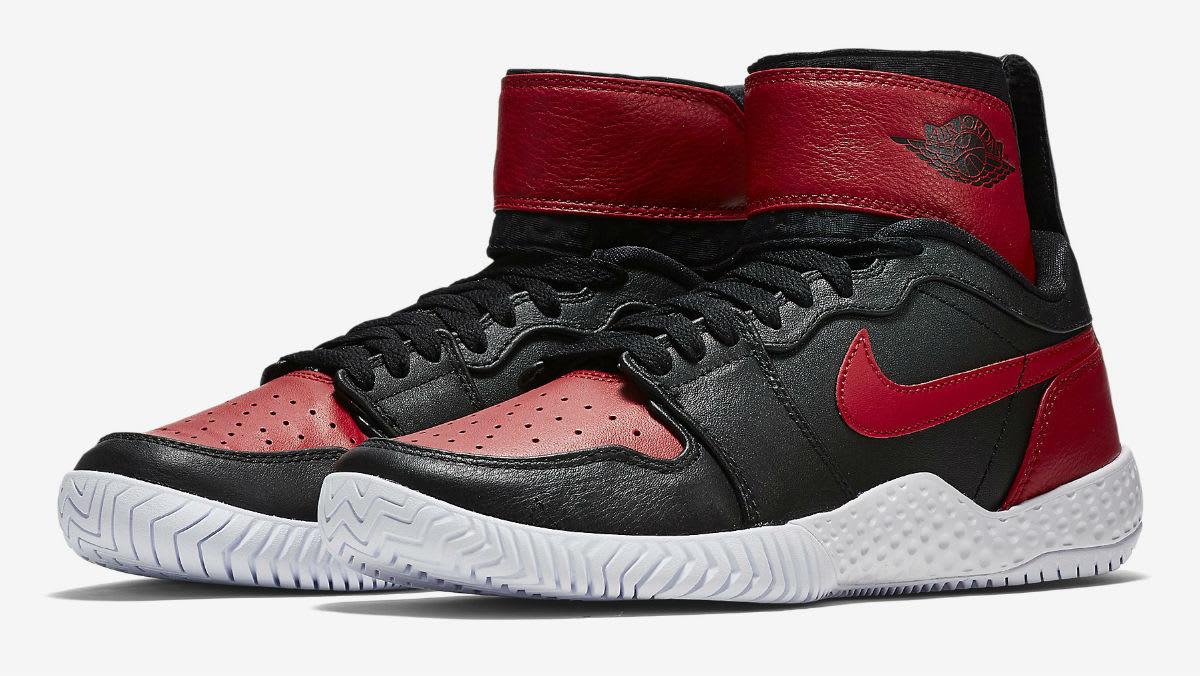 Serena Williams NikeCourt Flare AJ1 Red Release Date Main 878458-023