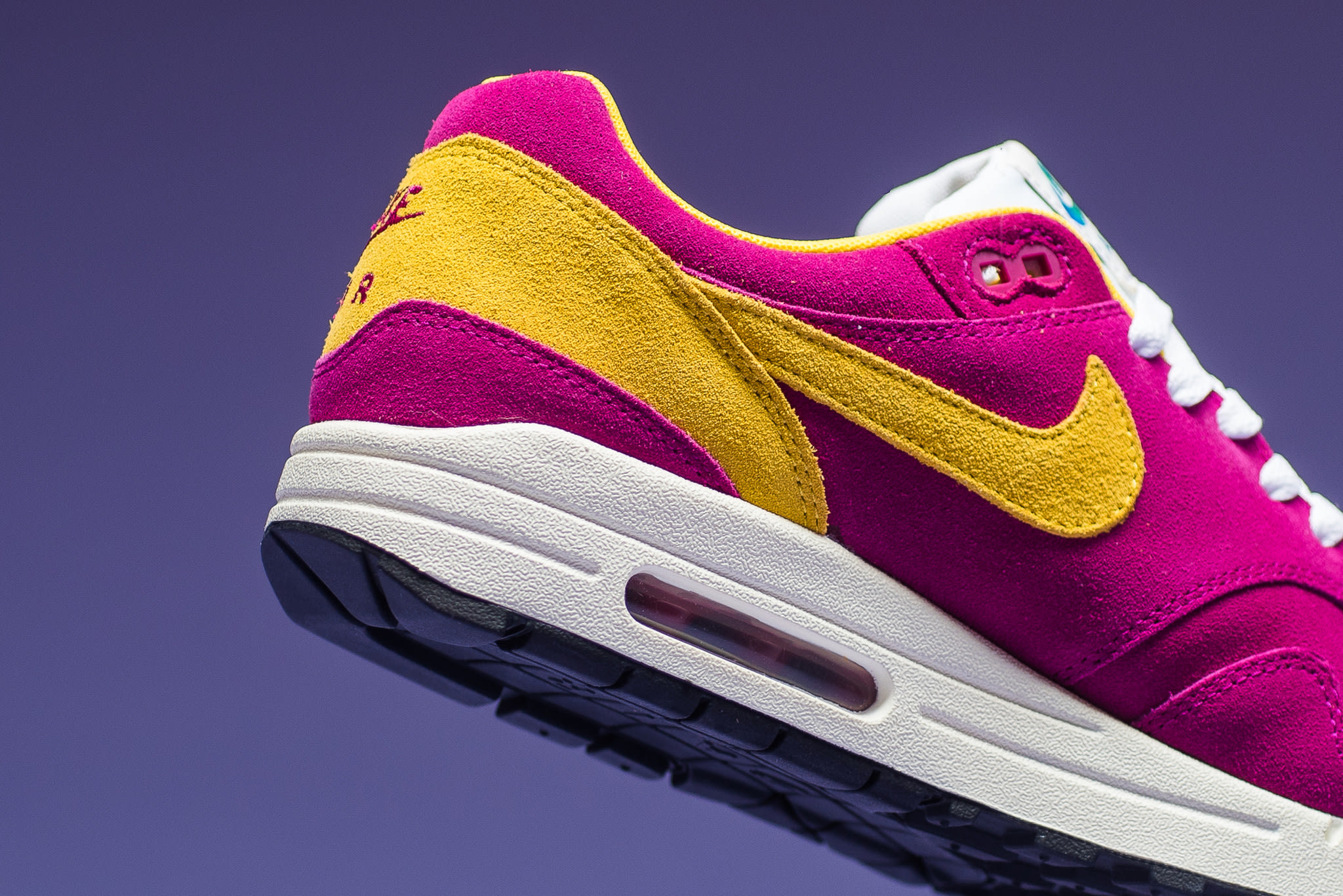 big sale 7f471 ded90 ... low price image via sneaker politics nike air max 1 dynamic berry vivid  sulfur medial ad23f