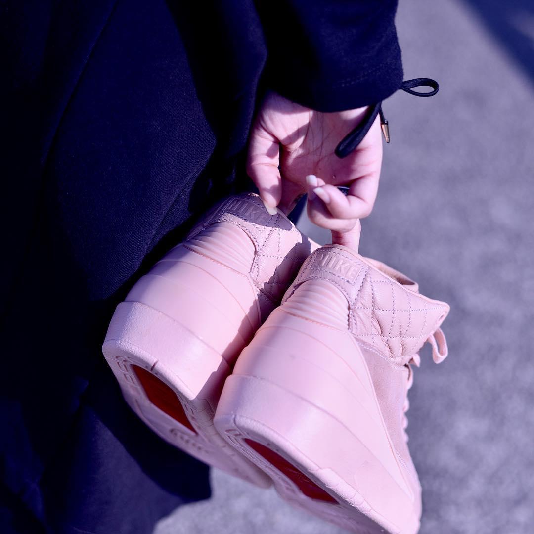 Pink Don C Air Jordan 2 Release Date Heel
