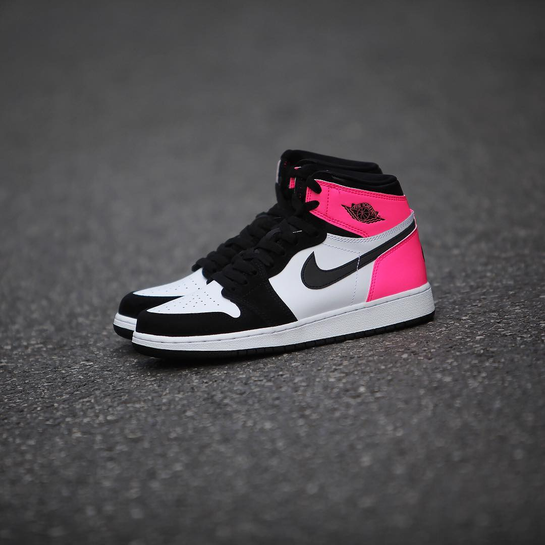 finest selection 9daa6 68a3f Air Jordan 1 Valentine's Day Black Pink Release Date 881426 ...