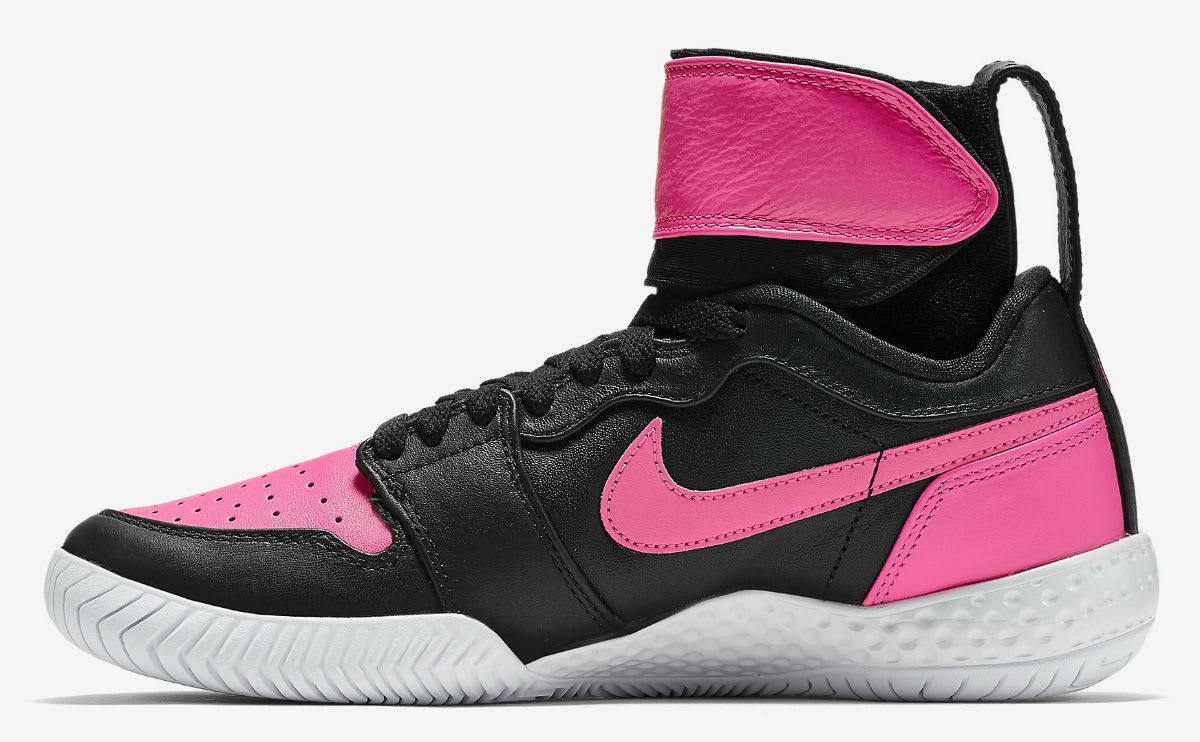 Serena Williams NikeCourt Flare AJ1 Pink Release Date Medial 878458-006