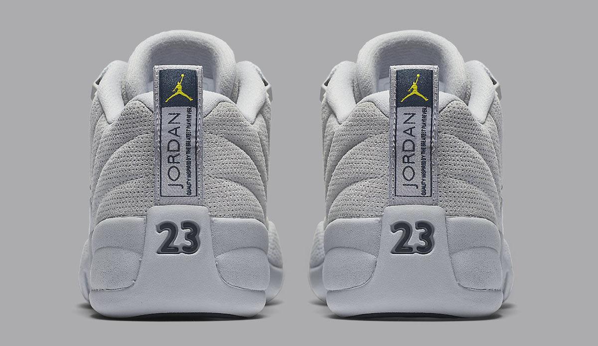 Air Jordan 12 Low Wolf Grey Release Date Heel 308317-002