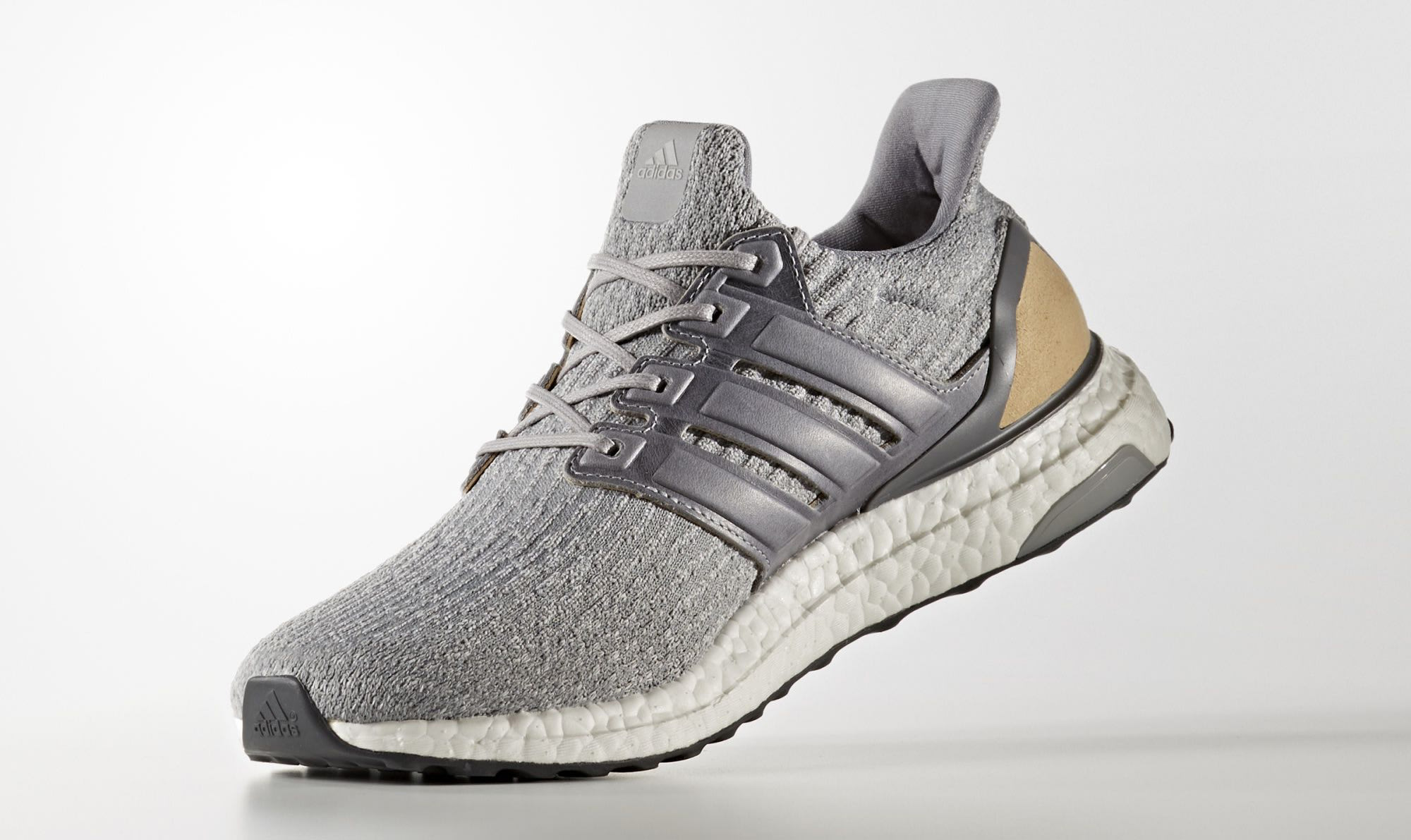 Adidas Ultra Boost 3 Grey Leather Suede BB1092 Medial