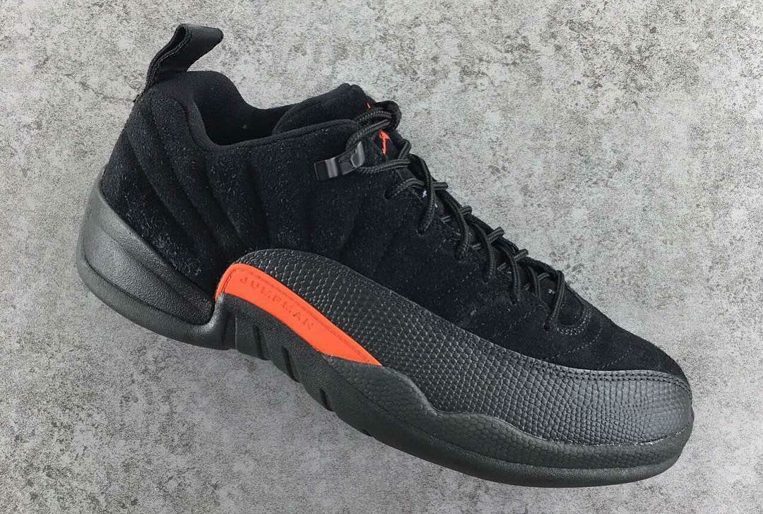 Air Jordan 12 Low Black Max Orange Release Date