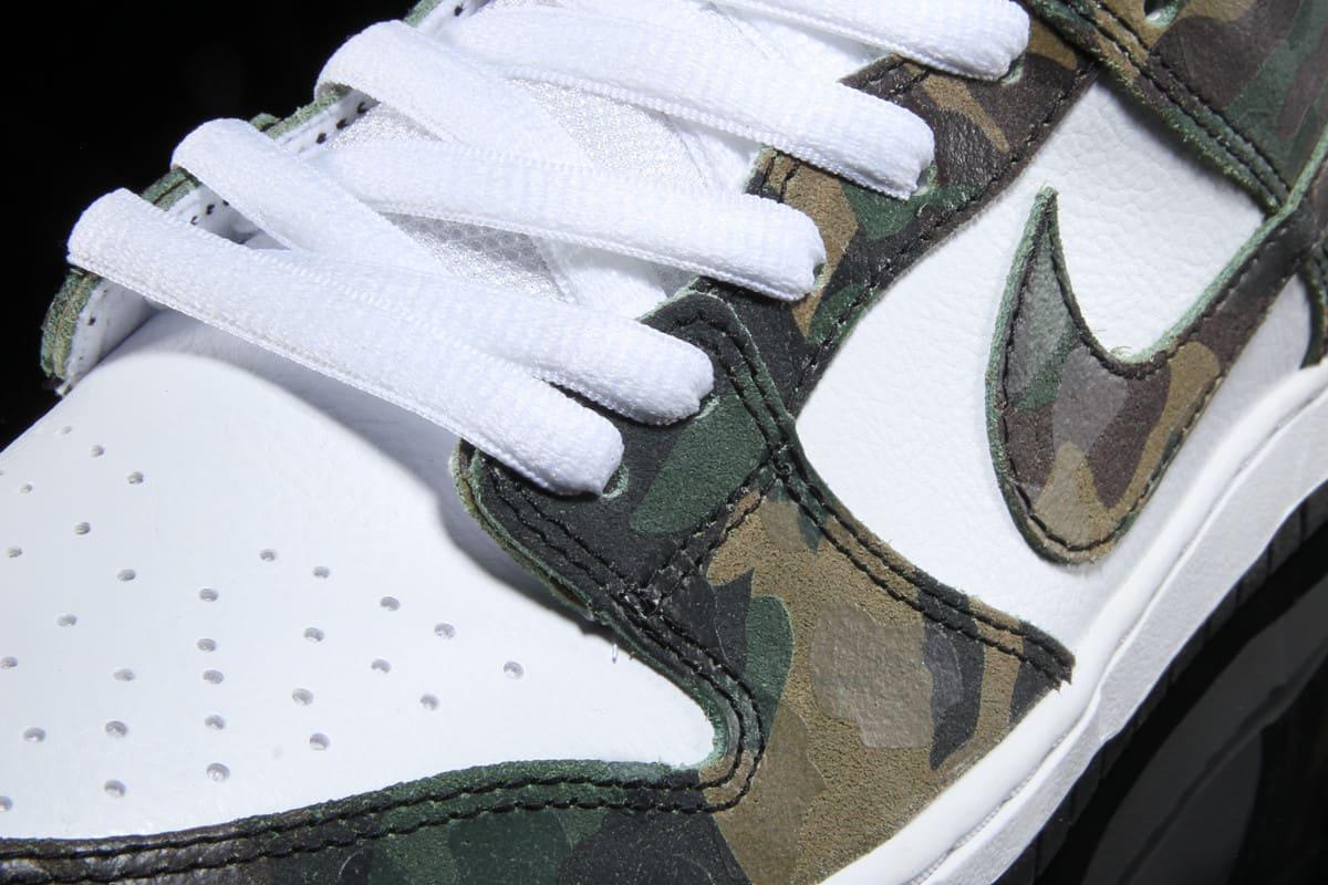 Ishod Wair Camo Nike SB Dunk 854866-331 Detail
