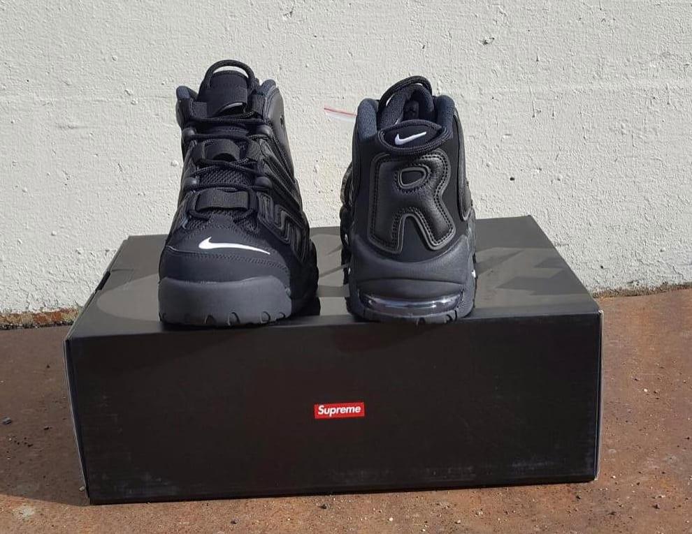 Supreme Nike Air More Uptempo Black