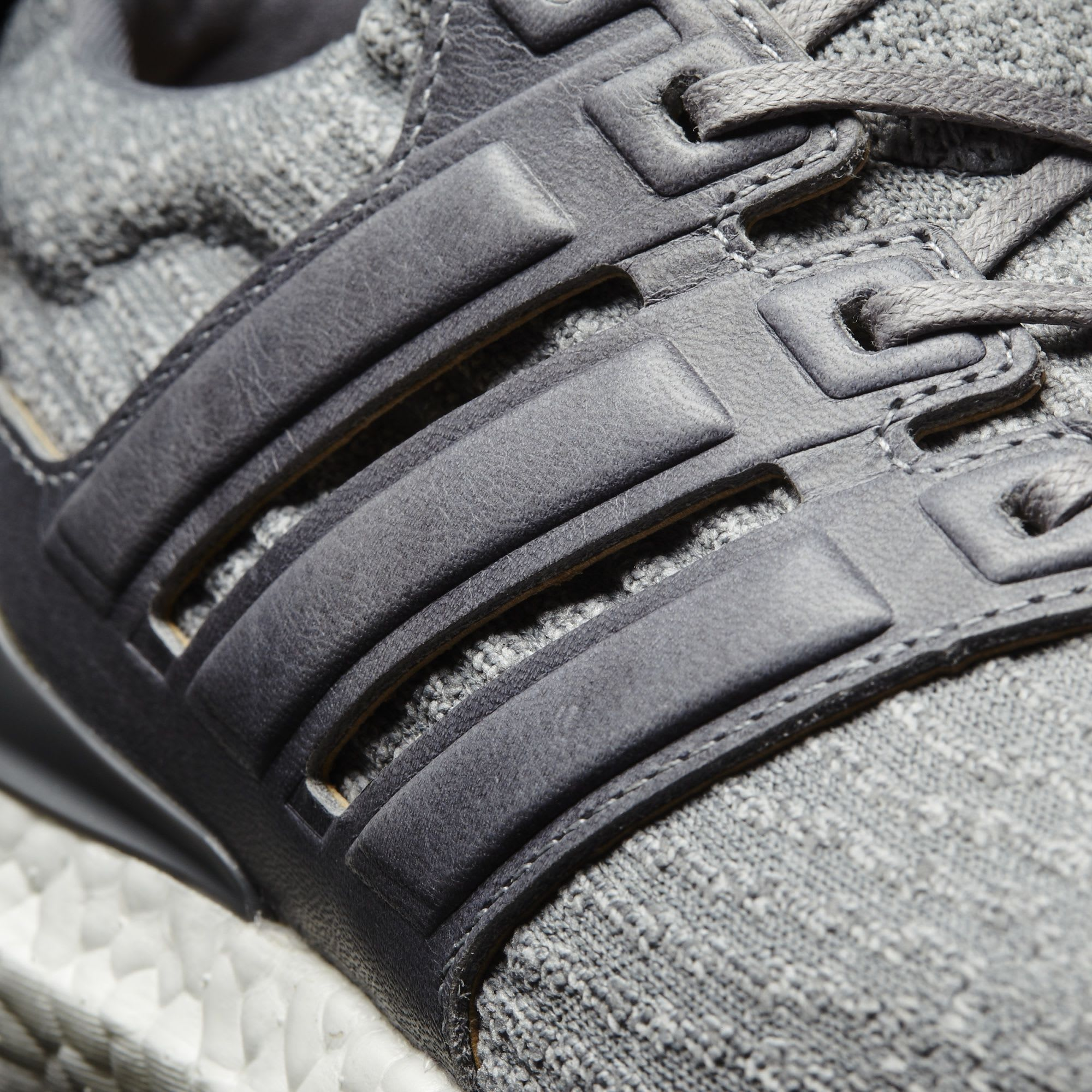 Adidas Ultra Boost 3 Grey Leather Suede BB1092 Cage Detail