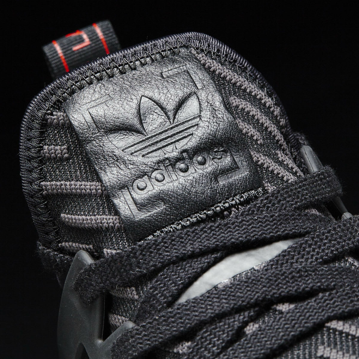 Adidas NMD XR1 Triple Black Release Date Tongue BA7214