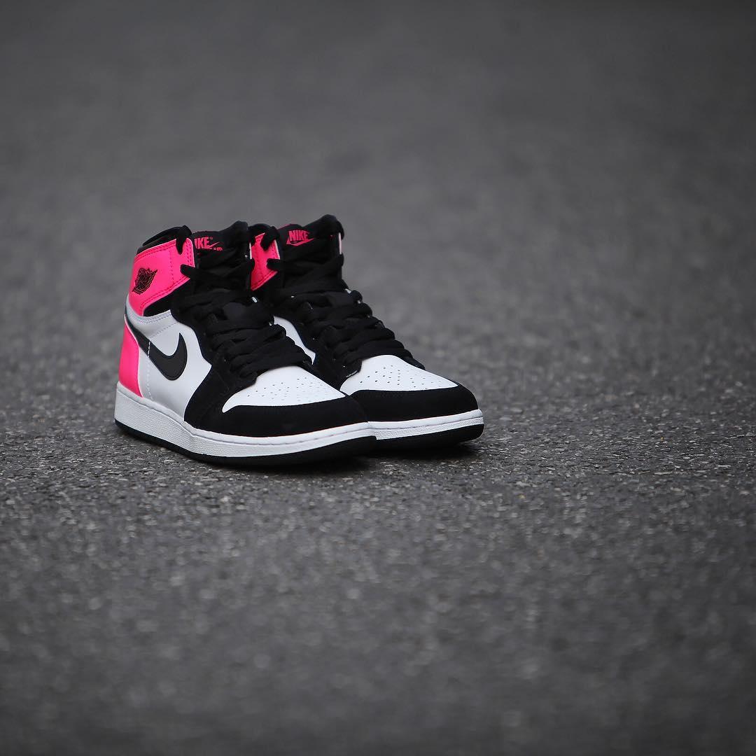Air Jordan 1 Valentine's Day Black Pink Release Date 3M 881426-009 (4)