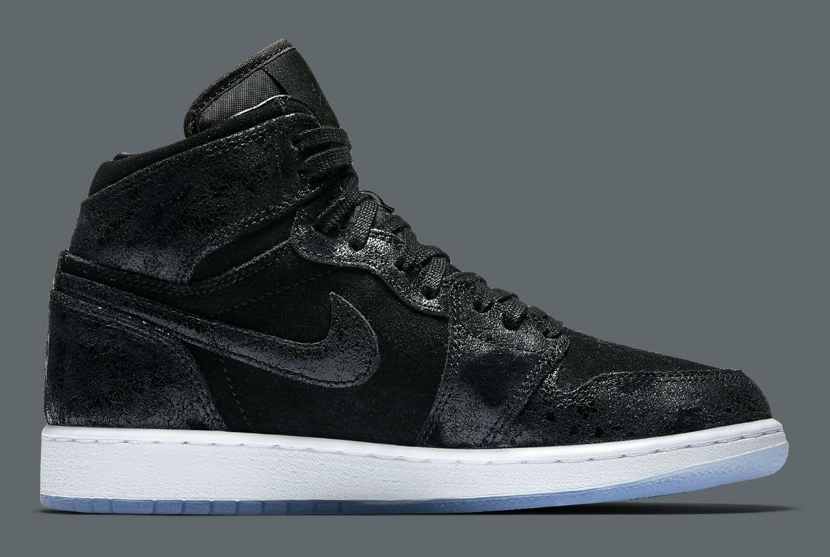 Air Jordan 1 Heiress Black Suede Release Date Medial 832596-001