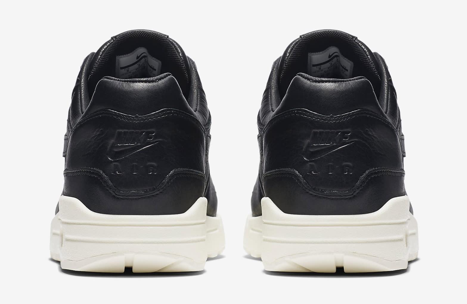 Nike Air Max 1 Pinnacle Leather Black 859554-003 Heel