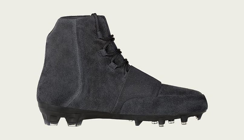 Triple Black Yeezy 750 Cleats
