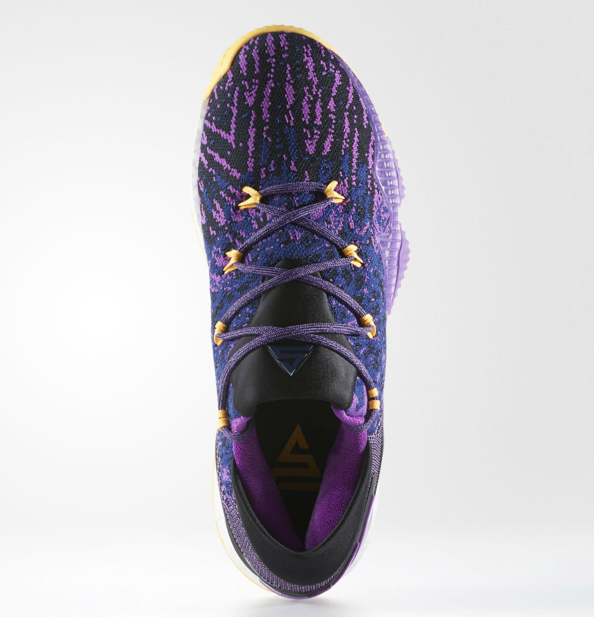 Adidas crazylight boost low 2016 bred black red mens basketball shoes - Adidas Crazylight Boost Swaggy P Lakers Top Bb8175