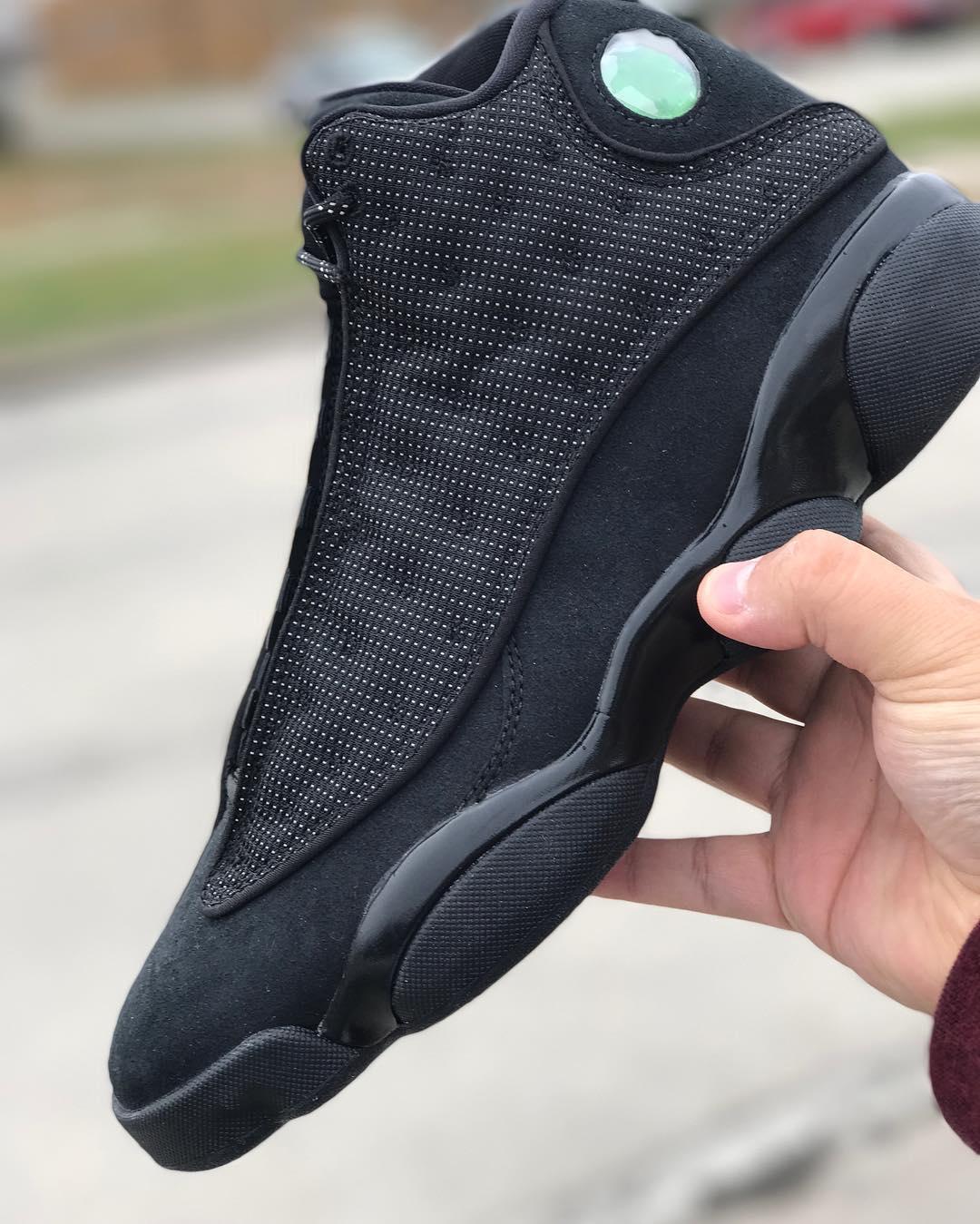 Air Jordan 13 Black Cat Release Date Side 414571-011