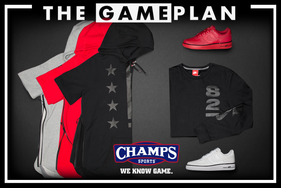 d742f3e5f358b6 ... Sports Presents the Nike Pivot Pack. Champs has a new Game Plan for the  Air Force 1.
