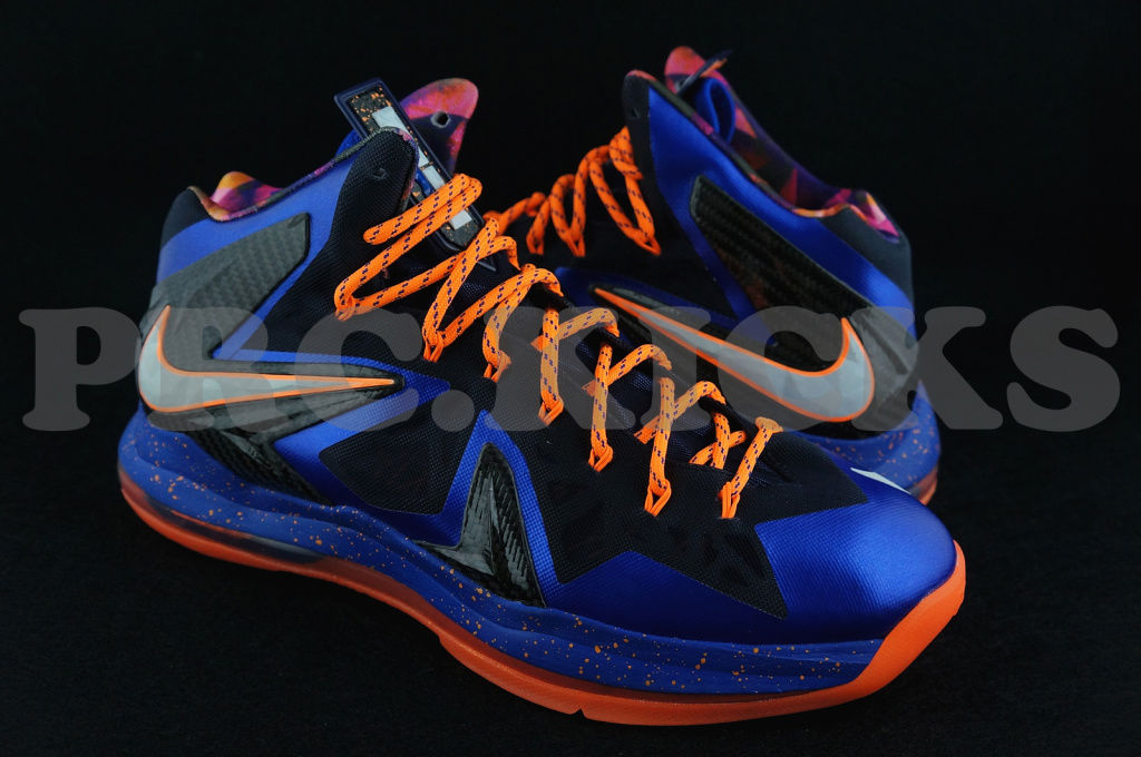 wholesale dealer eadc6 367cb Nike LeBron X PS Hyper Blue Black Orange 579827-400 (1)