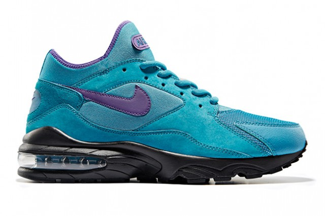 size x Nike Air Max 93 in turquoise purple black