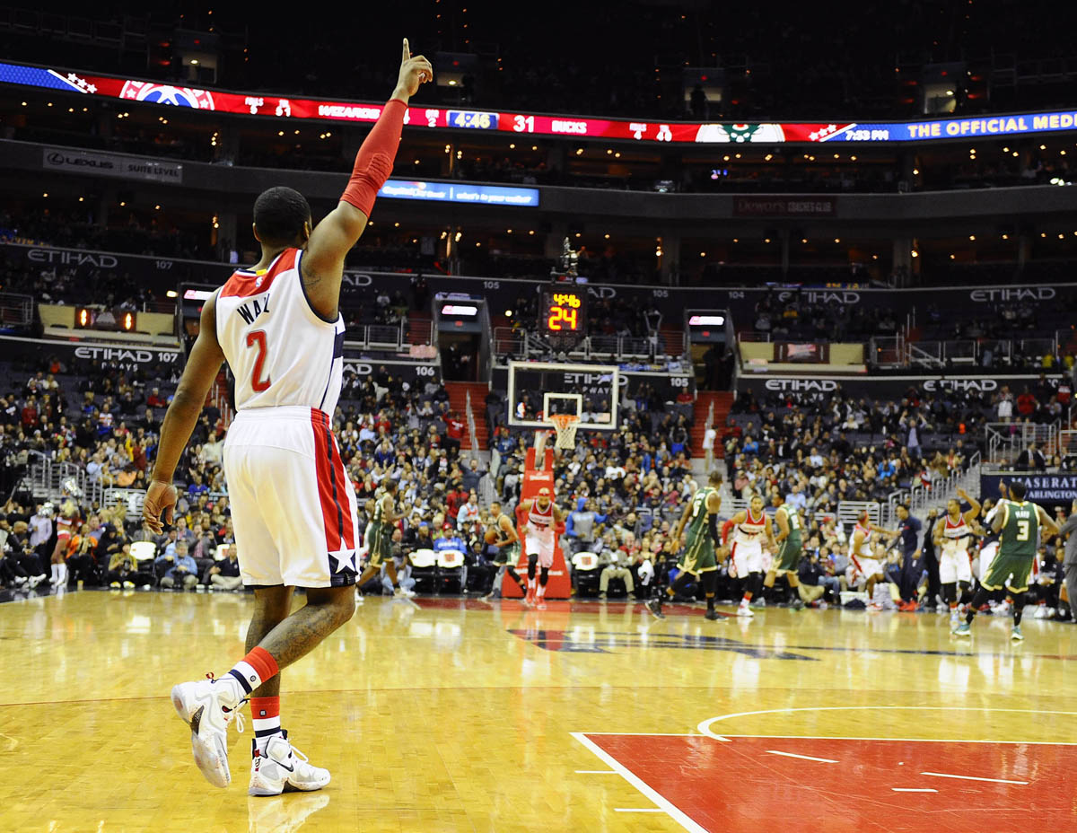 John Wall wearing the 'Horror Flick' Nike LeBron 13 (1)