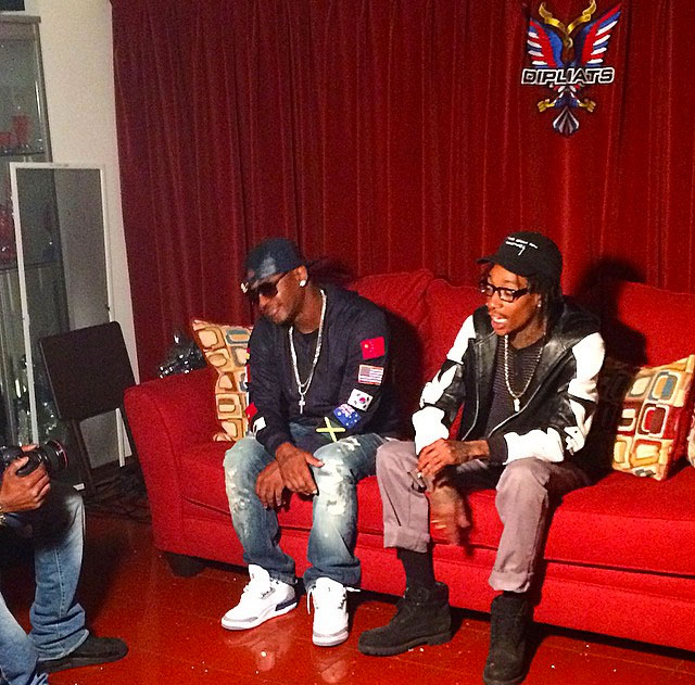 Cam'ron wearing Air Jordan III 3 True Blue