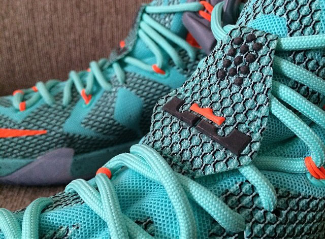 1a7fdae94f1 Nike LeBron XII 12 Teal Grey-Orange Sample (24)