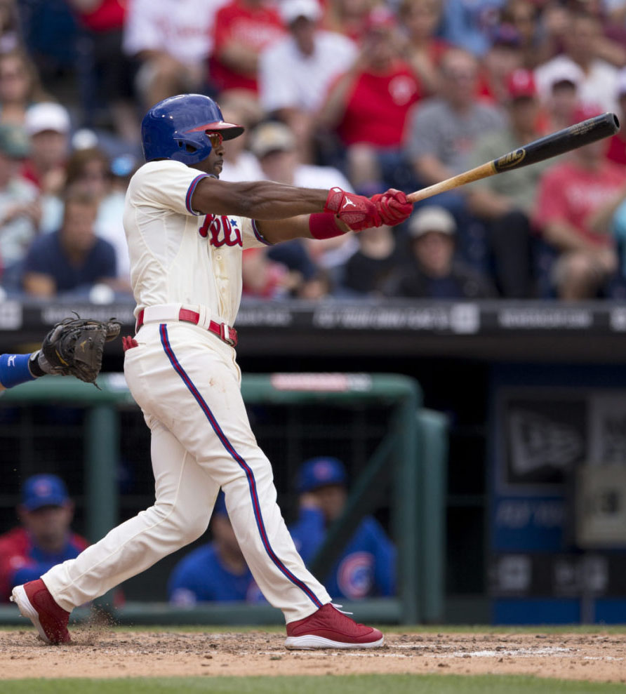 Jimmy Rollins wearing Air Jordan XIII 13 PE Cleats (3)