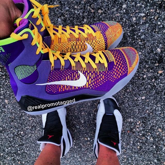 7ed349938f6 Nike Kobe 9 IX Elite Suns Court Purple Laser Orange 630847-500 (1)