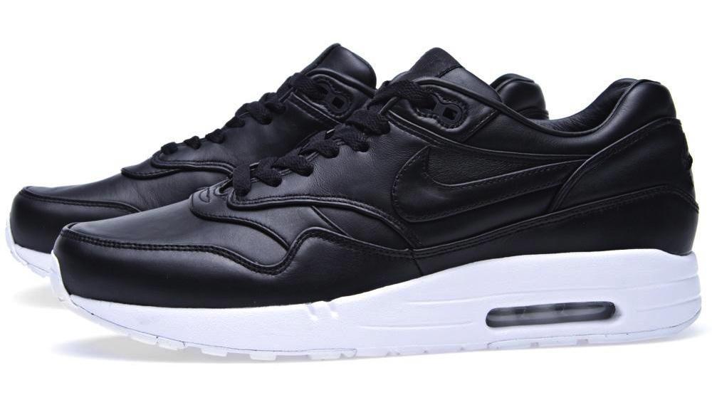 Cuir Nike Premium Air Max En Noir Et Blanc Classique