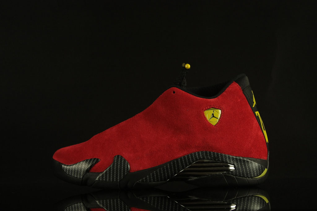 buy online 57a27 e1cfd Air Jordan XIV 14 Ferrari Red Suede 654459-670 (2)