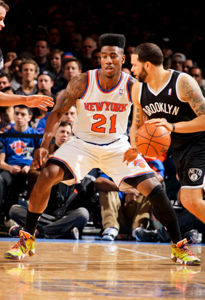 Iman Shumpert wearing adidas Originals JS Streetball