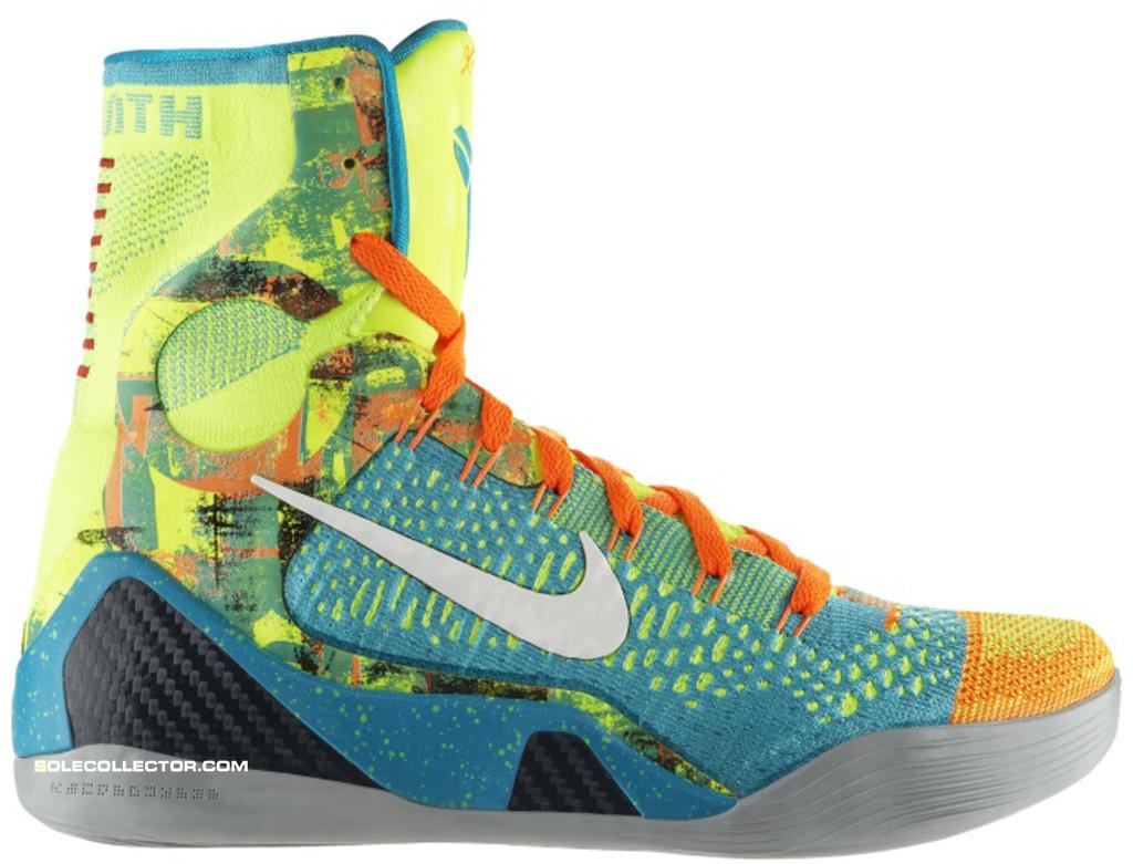 newest ddbe6 9b58f 06 21 14 Nike Kobe 9 Elite 630847-300 Sport Turquoise White-Volt-Total  Orange  225.00