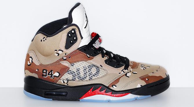 Camo Supreme x Air Jordan 5s Will