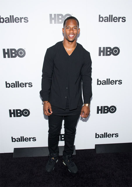Victor Cruz wearing the 'DMP' Air Jordan VI 6
