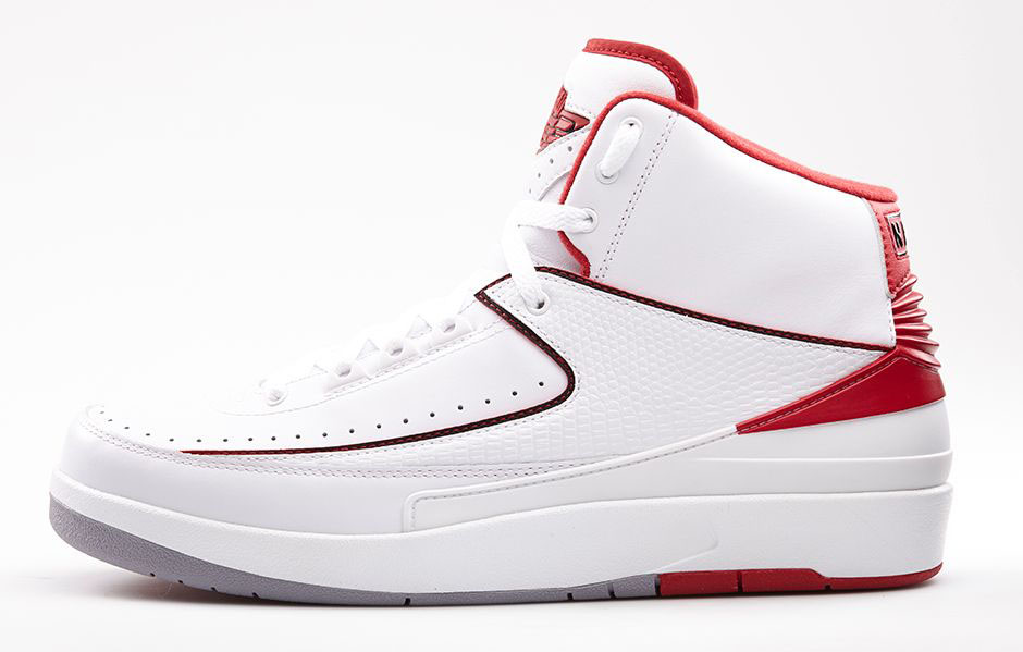 premium selection 92137 a5a62 Air Jordan II 2 Retro White Varsity Red 385475-102 (2)
