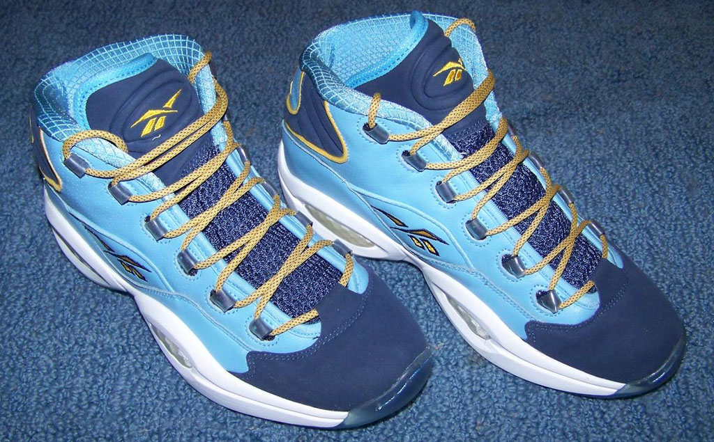 Reebok Question Carolina Blue/White-Athletic Navy-Gold