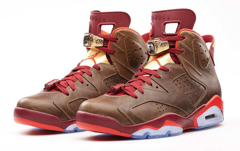 newest 0d52e 1799d Air Jordan VI 6 Celebration Cigar 384664-250 (1)