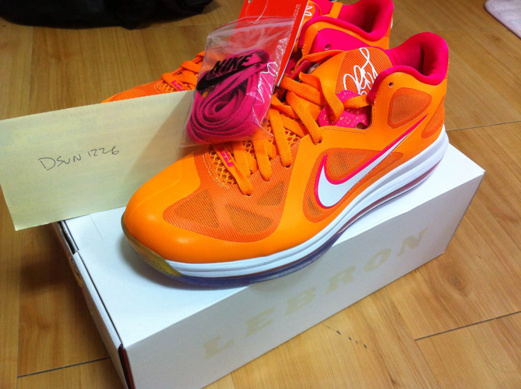 Nike LeBron 9 IX Low Floridians Vivid Orange Cherry 510811-800 (3)