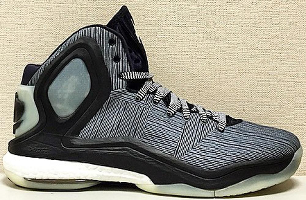 adidas D Rose 5 Boost Black/White-Glow