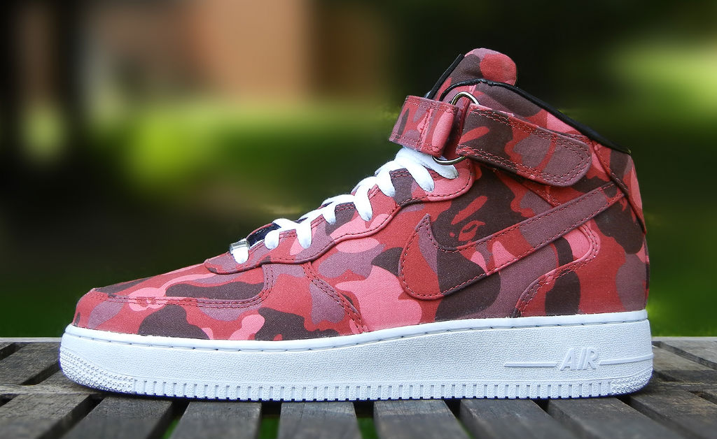Nike Air Force 1 Mid BAPE By JBF Customs (1)