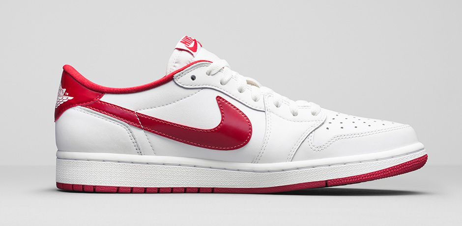 air jordan 1 low og white varsity red 6