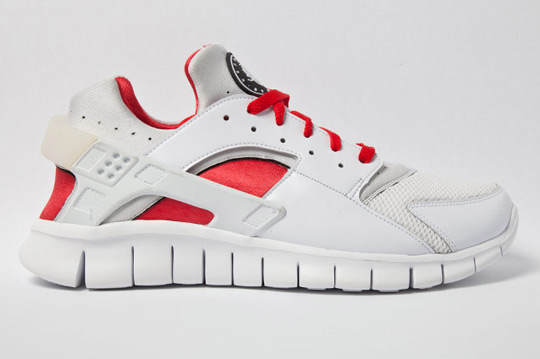 We continue our look at next year's releases of the Huarache Free 2012 with  this simple white and red look.