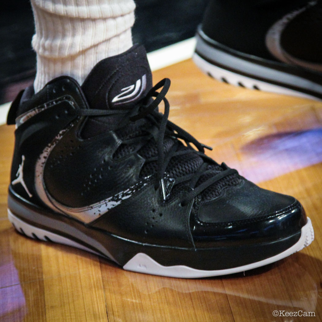Sole Watch // Up Close At Barclays for Nets vs Cavs - Joe Johnson wearing Jordan Phase 23 Hoops II PE