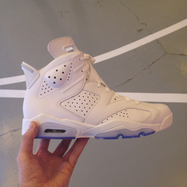 Air Jordan VI 6 All-White Sample