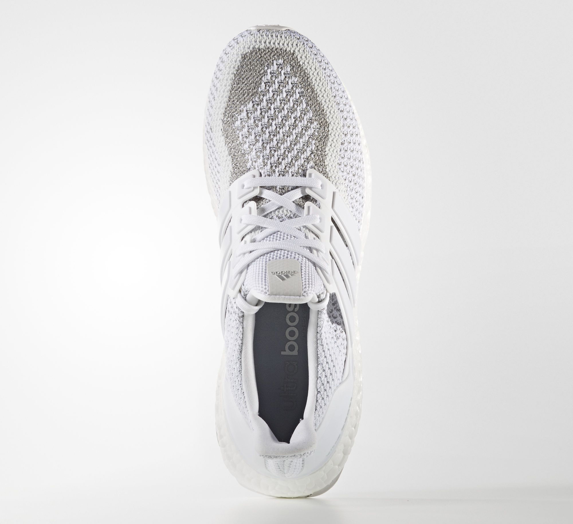 White Adidas Ultra Boost Reflective Top
